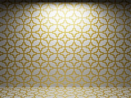 simsearch:400-05245734,k - illuminated tile wall made in 3D graphics Stock Photo - Budget Royalty-Free & Subscription, Code: 400-04681578
