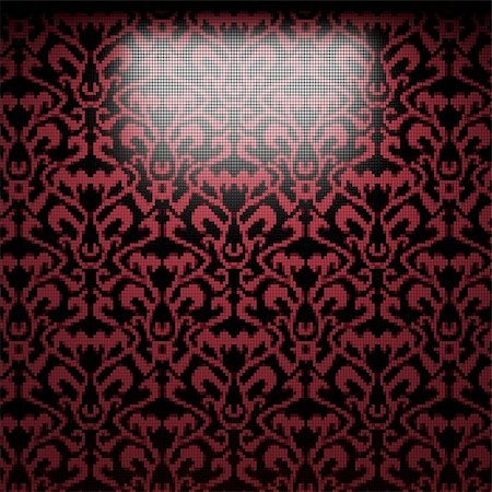 simsearch:400-05245734,k - illuminated tile wall made in 3D graphics Stock Photo - Budget Royalty-Free & Subscription, Code: 400-04681571