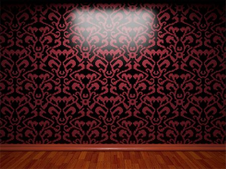 simsearch:400-05245734,k - illuminated tile wall made in 3D graphics Stock Photo - Budget Royalty-Free & Subscription, Code: 400-04681572