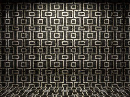simsearch:400-05245734,k - illuminated tile wall made in 3D graphics Stock Photo - Budget Royalty-Free & Subscription, Code: 400-04681585