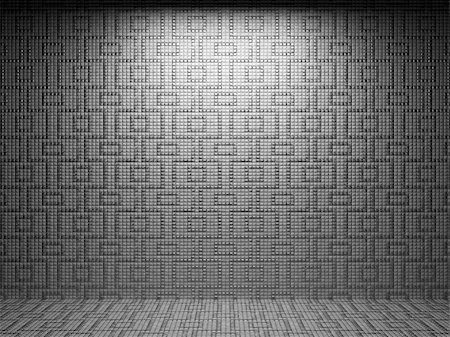 simsearch:400-05245734,k - illuminated tile wall made in 3D graphics Stock Photo - Budget Royalty-Free & Subscription, Code: 400-04681586