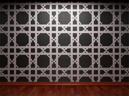 simsearch:400-05245734,k - illuminated tile wall made in 3D graphics Stock Photo - Budget Royalty-Free & Subscription, Code: 400-04681588