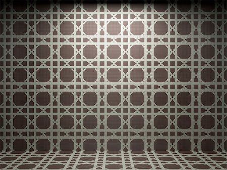 simsearch:400-05245734,k - illuminated tile wall made in 3D graphics Stock Photo - Budget Royalty-Free & Subscription, Code: 400-04681589