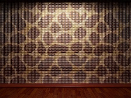 simsearch:400-05245734,k - illuminated tile wall made in 3D graphics Stock Photo - Budget Royalty-Free & Subscription, Code: 400-04681580