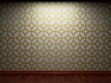 simsearch:400-05245734,k - illuminated tile wall made in 3D graphics Stock Photo - Budget Royalty-Free & Subscription, Code: 400-04681583