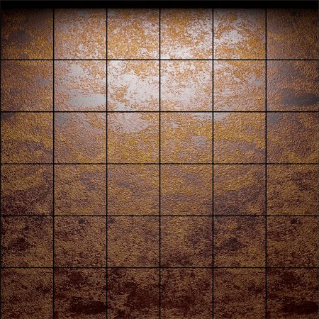 simsearch:400-05245734,k - illuminated tile wall made in 3D graphics Stock Photo - Budget Royalty-Free & Subscription, Code: 400-04681599
