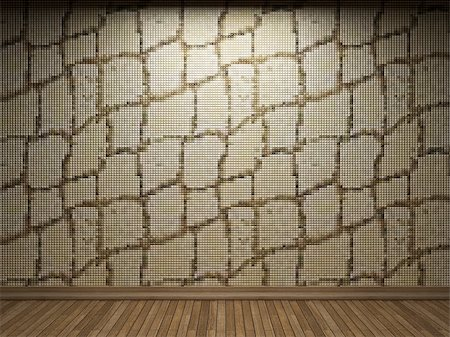 simsearch:400-05245734,k - illuminated tile wall made in 3D graphics Stock Photo - Budget Royalty-Free & Subscription, Code: 400-04681591