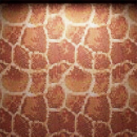 simsearch:400-05245734,k - illuminated tile wall made in 3D graphics Stock Photo - Budget Royalty-Free & Subscription, Code: 400-04681592