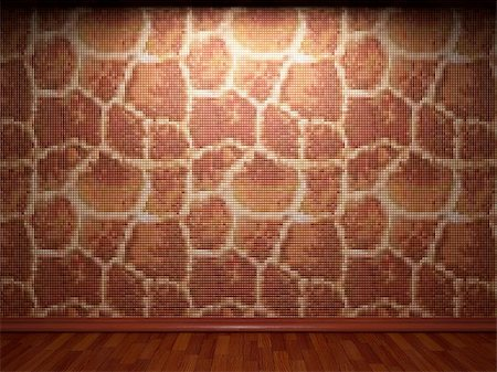 simsearch:400-05245734,k - illuminated tile wall made in 3D graphics Stock Photo - Budget Royalty-Free & Subscription, Code: 400-04681593