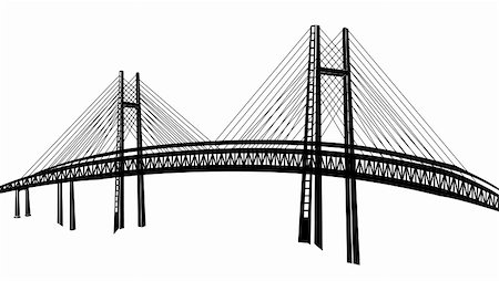 drawing of bridge in a white background Stock Photo - Budget Royalty-Free & Subscription, Code: 400-04682124