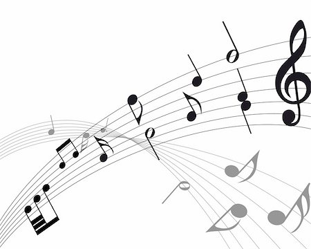 Vector musical notes staff background for design use Stock Photo - Budget Royalty-Free & Subscription, Code: 400-04694449
