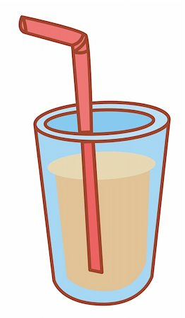 illustration drawing of soda drink with straw Stock Photo - Budget Royalty-Free & Subscription, Code: 400-04697459