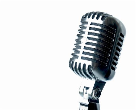 Vintage Microphone With Text Area Stock Photo - Budget Royalty-Free & Subscription, Code: 400-04697675