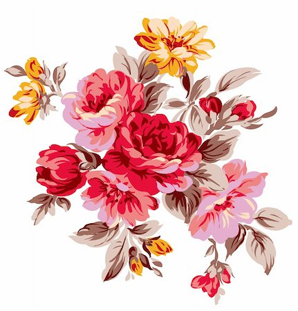 simsearch:400-04697977,k - a vivid illustration of some beautiful flowers Stock Photo - Budget Royalty-Free & Subscription, Code: 400-04697739
