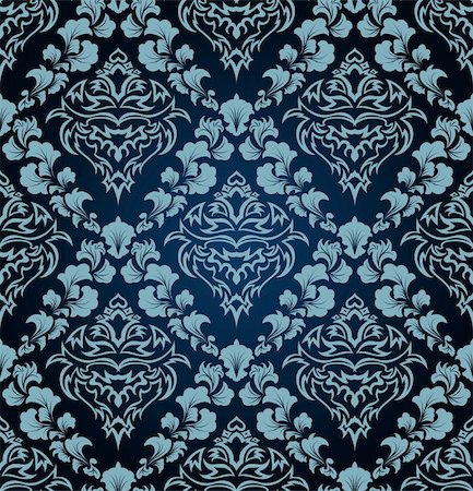Damask seamless vector background.  For easy making seamless pattern just drag all group into swatches bar, and use it for filling any contours. Stock Photo - Budget Royalty-Free & Subscription, Code: 400-04698012