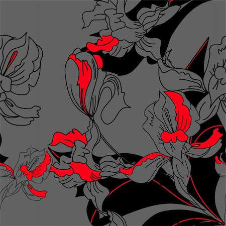 peonies graphics - Floral seamless pattern Stock Photo - Budget Royalty-Free & Subscription, Code: 400-04698265