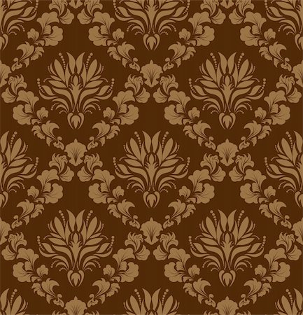 Damask seamless vector background.  For easy making seamless pattern just drag all group into swatches bar, and use it for filling any contours. Stock Photo - Budget Royalty-Free & Subscription, Code: 400-04698456