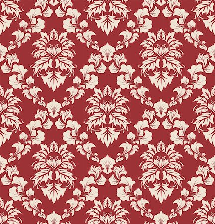 Damask seamless vector background.  For easy making seamless pattern just drag all group into swatches bar, and use it for filling any contours. Stock Photo - Budget Royalty-Free & Subscription, Code: 400-04698457