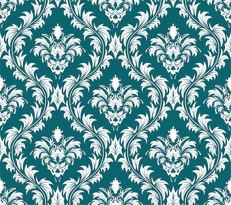 Damask seamless vector background.  For easy making seamless pattern just drag all group into swatches bar, and use it for filling any contours. Stock Photo - Budget Royalty-Free & Subscription, Code: 400-04698453