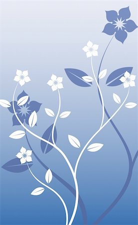 simsearch:400-05235216,k - illustration drawing of sakura flower in a blue background Stock Photo - Budget Royalty-Free & Subscription, Code: 400-04699355