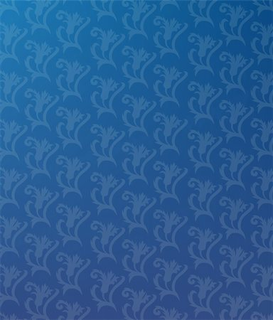 simsearch:400-05235216,k - illustration drawing of seamless flower pattern in a blue background Stock Photo - Budget Royalty-Free & Subscription, Code: 400-04699584