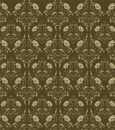 simsearch:400-05235216,k - illustration drawing of flower pattern in a green background Stock Photo - Budget Royalty-Free & Subscription, Code: 400-04699732