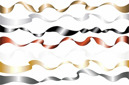 party celebration paper confetti - Set Of 7 Colorful Metal Ribbons (Golden, Silver, Bronze, Black, Gray, Red, White), Isolated On White Stock Photo - Budget Royalty-Free & Subscription, Code: 400-04690044