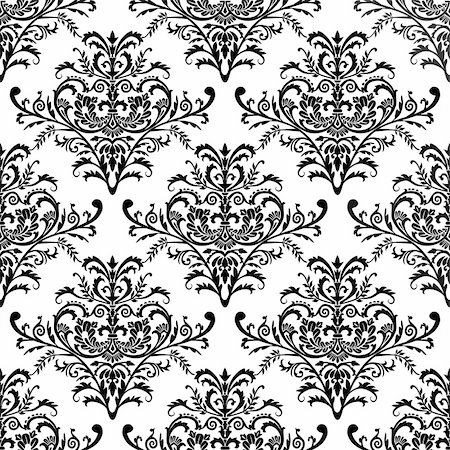 elakwasniewski (artist) - Seamless antique pattern, baroque design, full scalable vector graphic included Eps v8 and 300 dpi JPG and are very easy to edit. Stock Photo - Budget Royalty-Free & Subscription, Code: 400-04690996