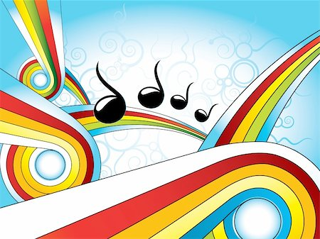 retro colorful shape music wallpaper Stock Photo - Budget Royalty-Free & Subscription, Code: 400-04691499
