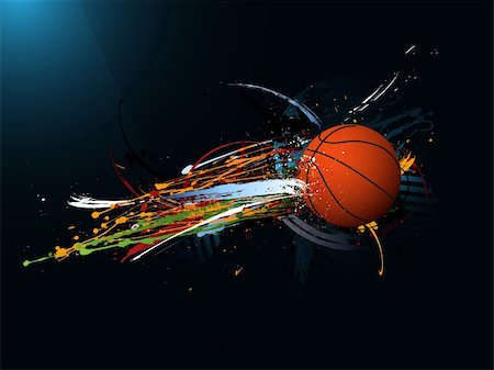drop painting splash - dirty abstract grunge background, Basketball Stock Photo - Budget Royalty-Free & Subscription, Code: 400-04691658