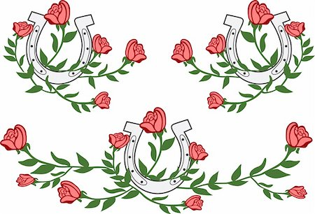 floral emblem design Stock Photo - Budget Royalty-Free & Subscription, Code: 400-04692612