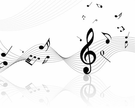 Vector musical notes staff background for design use Stock Photo - Budget Royalty-Free & Subscription, Code: 400-04692881