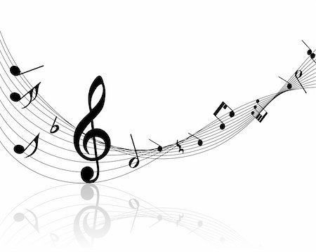 Vector musical notes staff background for design use Stock Photo - Budget Royalty-Free & Subscription, Code: 400-04692883