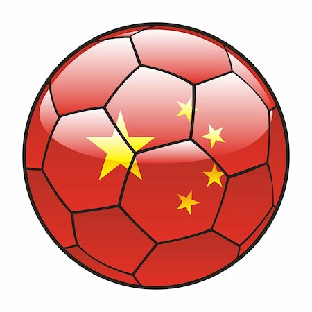 pilgrimartworks - vector illustration of China flag on soccer ball Stock Photo - Budget Royalty-Free & Subscription, Code: 400-04704062