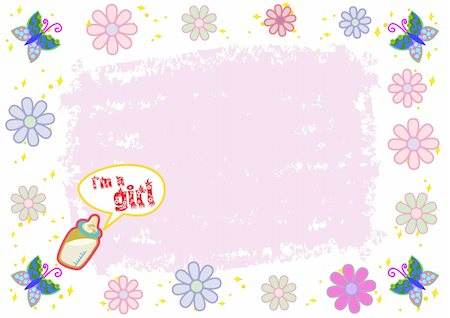 I'm a Girl Colorful Illustration in Vector Stock Photo - Budget Royalty-Free & Subscription, Code: 400-04707203
