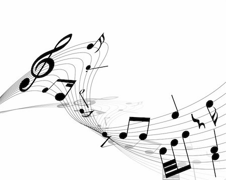 Vector musical notes staff background for design use Stock Photo - Budget Royalty-Free & Subscription, Code: 400-04709804