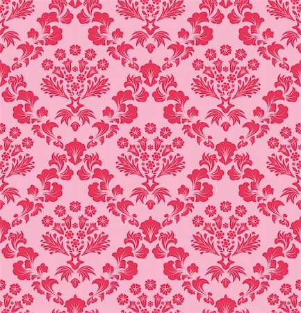 Damask seamless vector background.  For easy making seamless pattern just drag all group into swatches bar, and use it for filling any contours. Stock Photo - Budget Royalty-Free & Subscription, Code: 400-04709802