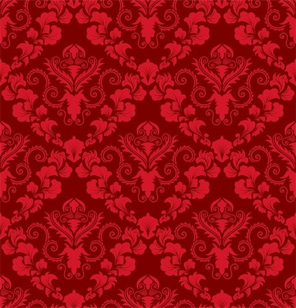 Damask seamless vector background.  For easy making seamless pattern just drag all group into swatches bar, and use it for filling any contours. Stock Photo - Budget Royalty-Free & Subscription, Code: 400-04709803