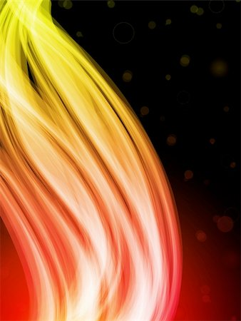Vector - Abstract Colorful Waves on Black Background Stock Photo - Budget Royalty-Free & Subscription, Code: 400-04709826