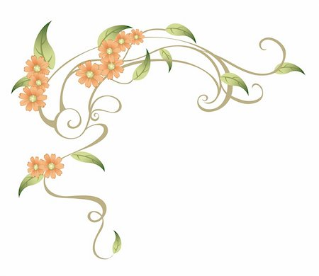 simsearch:400-04697977,k - drawing of beautiful flower in a white background Stock Photo - Budget Royalty-Free & Subscription, Code: 400-04700211