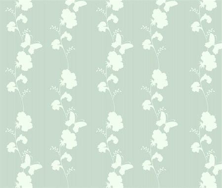simsearch:400-05235216,k - drawing of beautiful flower pattern in a green background Stock Photo - Budget Royalty-Free & Subscription, Code: 400-04700222