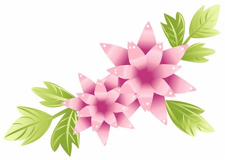 simsearch:400-04697977,k - illustration drawing of beautiful flower with green leaves Stock Photo - Budget Royalty-Free & Subscription, Code: 400-04702778