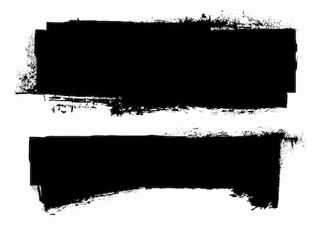 splats of paint - black grunge ink banner with paint roller effect Stock Photo - Budget Royalty-Free & Subscription, Code: 400-04702877