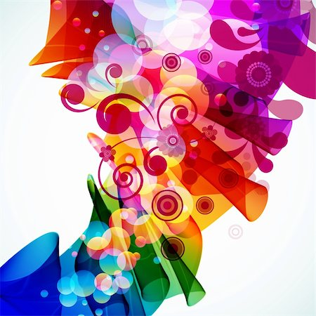 Abstract colorful floral background. Vector. Stock Photo - Budget Royalty-Free & Subscription, Code: 400-04714400