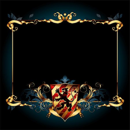 ornate frame, this  illustration may be useful  as designer work Stock Photo - Budget Royalty-Free & Subscription, Code: 400-04715138