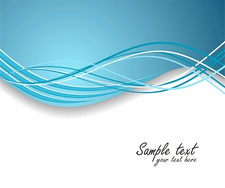 Dynamic wave background in blue. Vector illustration. Stock Photo - Budget Royalty-Free & Subscription, Code: 400-04715423