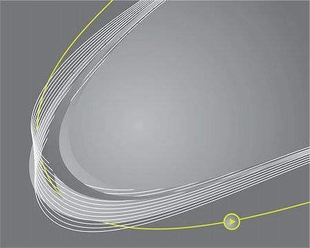 Dynamic wave background in gray. Vector illustration. Stock Photo - Budget Royalty-Free & Subscription, Code: 400-04715439
