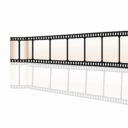 film strip - illustration of vector film reel on white background Stock Photo - Budget Royalty-Free & Subscription, Code: 400-04717608