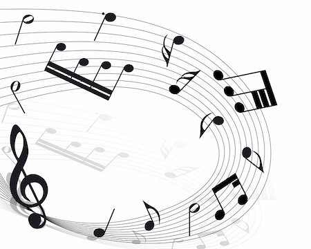 Vector musical notes staff background for design use Stock Photo - Budget Royalty-Free & Subscription, Code: 400-04718558