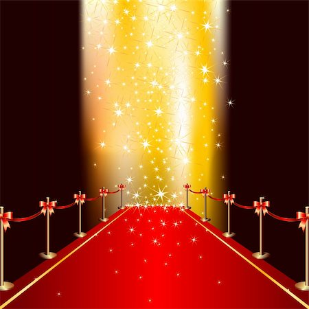 red carpet, this  illustration may be useful  as designer work Stock Photo - Budget Royalty-Free & Subscription, Code: 400-04718773